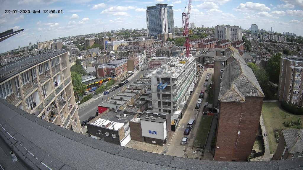 Camera View of Clem Attlee Estate Construction Progress
