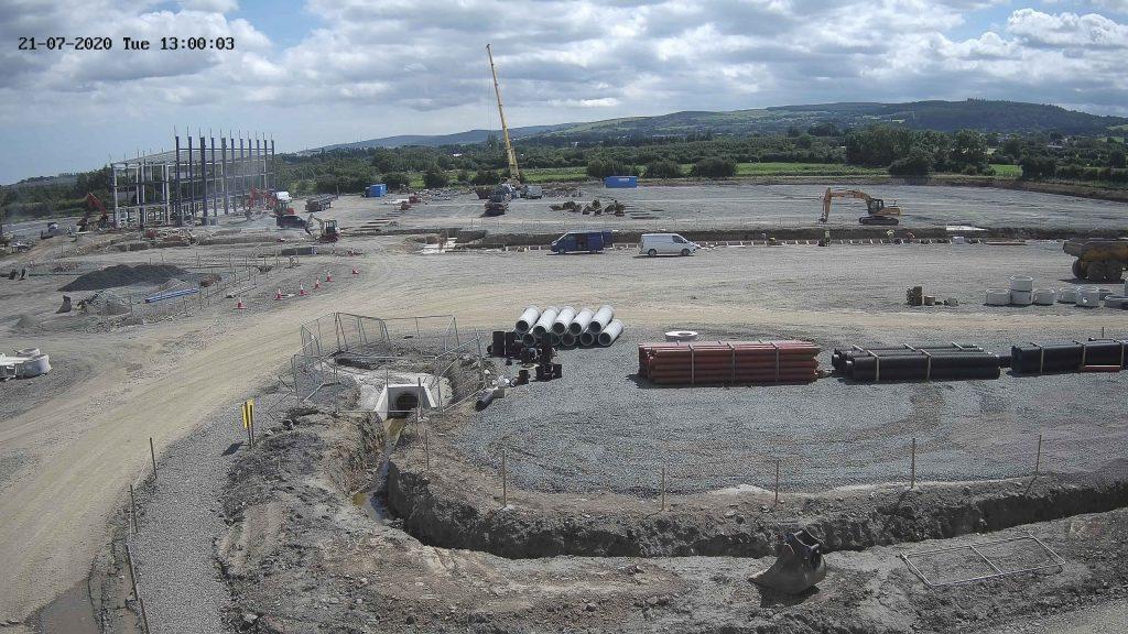 Camera view of Greenogue Unit B construction progress
