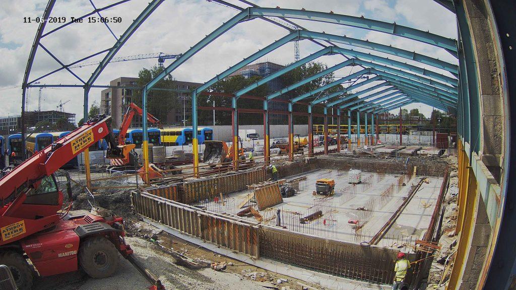 Construction in progress Dublin Bus Depot
