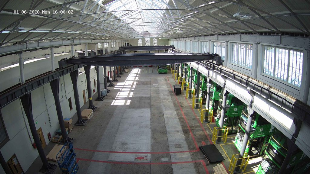 Inside Camera View of Dublin Bus Depot